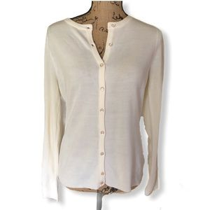 {Luxe} New Soft White Sweater Cardigan